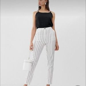 ASOS Petite linen tapered trousers